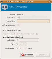 Der Virtual Machine Manager: Live-Migration.
