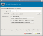 Der Virtual Machine Manager: Clonen einer virtuellen Maschine.