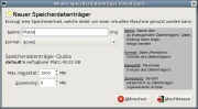 Der Virtual Machine Manager: Anlegen eines Images.